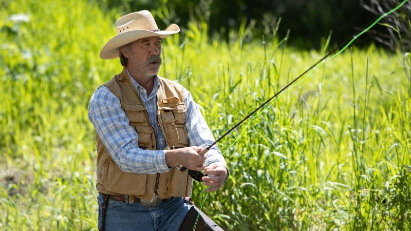 Jack fishing on Heartland season 13 episode 7