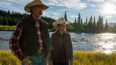 Amber Marshall and Shaun Johnston in Heartland season 14 episode 1