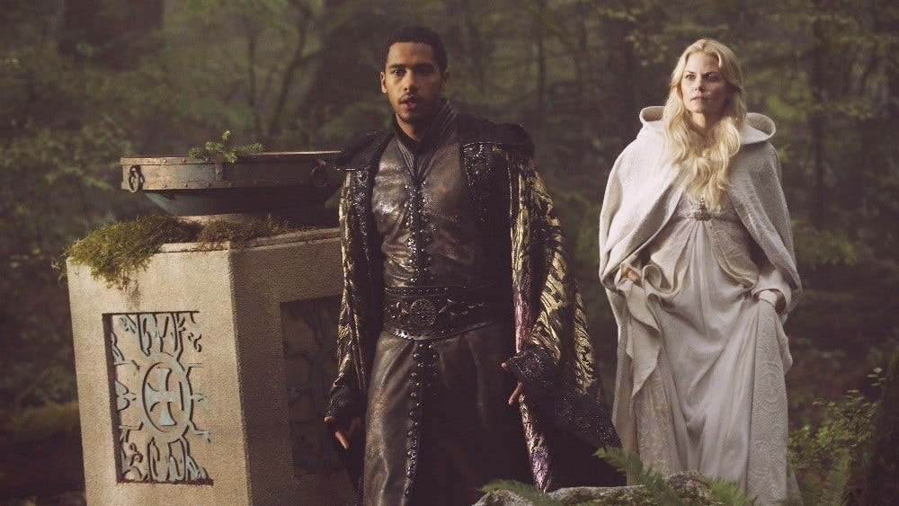 King Arthur and Merlin on Once Upon a Time