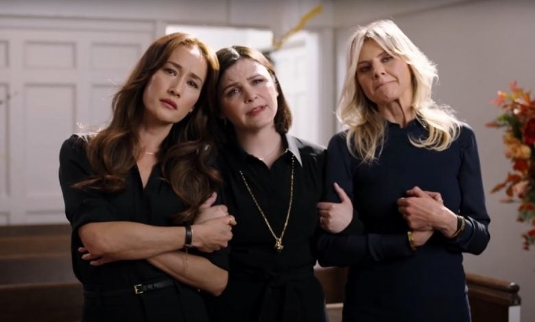 Maggie Q, Ginnifer Goodwin and Eliza Coupe posing for Fox's Pivoting